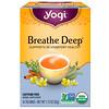 Yogi Tea, Органический чай Breathe Deep (Дышите глубоко), без кофеина, 16 чайных пакетиков, 32 г (1,12 унции)