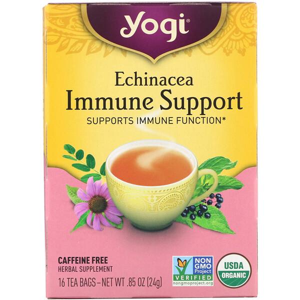 Echinacea Immune Support, без кофеина, 16 чайных пакетиков, 24 г (0,85 унции)