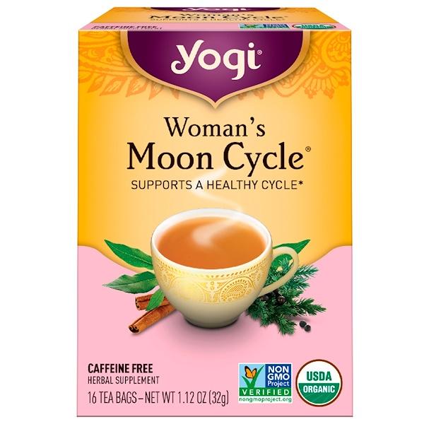Yogi Tea, Moon Cycle для женщин без кофеина, 16 чайных пакетиков, 1.12 унций (32 г) (Discontinued Item)