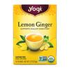 Yogi Tea, Lemon Ginger, без кофеина, 16 чайных пакетиков, 36 г (1,27 унции)