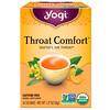 Yogi Tea, Органический чай Throat Comfort (Успокойте горло) без кофеина, 16 чайных пакетиков, 36 г (1,27 унции)