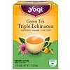 """Yogi Tea, Зеленый чай """"Тройная эхинацея"""", 16 пакетиков, 1.12 унций (32 г)"""