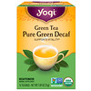 Yogi Tea, Зеленый чай Pure Green Decaf, 16 чайных пакетиков, 1.09 унций (31 г)