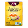 Yogi Tea, Органический, Throat Comfort, со вкусом меда и лимона, без кофеина, 16 чайных пакетиков, 1.12 унций (32 г)