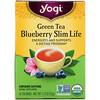 Yogi Tea, Органический зеленый чай Blueberry Slim Life, 16 чайных пакетиков, 32 г (1,12 унции)