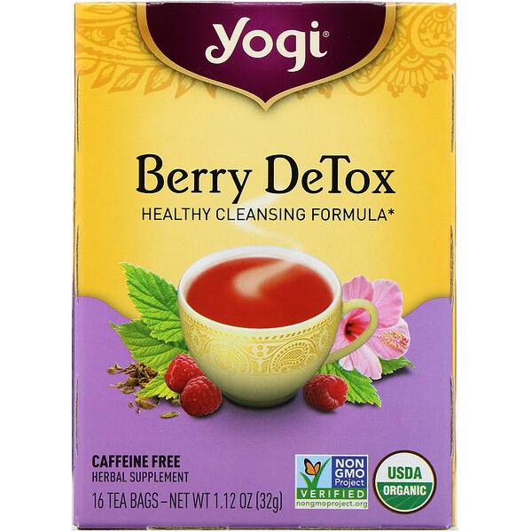 Detox, ягодный, без кофеина, 16чайных пакетиков, 32г (1,12 унции)