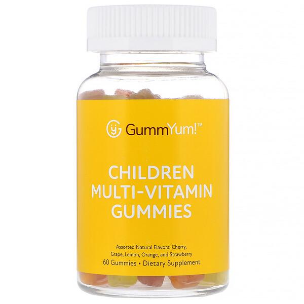 GummYum!, Жевательные мультивитамины для детей, с разными натуральными ароматизаторами, 60жевательных таблеток