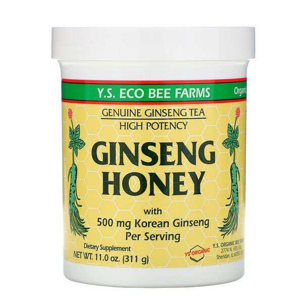 Y.S. Eco Bee Farms, Женьшень с медом, 11.0 унций (311 г)