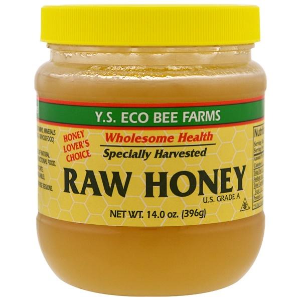 Y.S. Eco Bee Farms, Сырой мед, 396 г (14,0 унций)