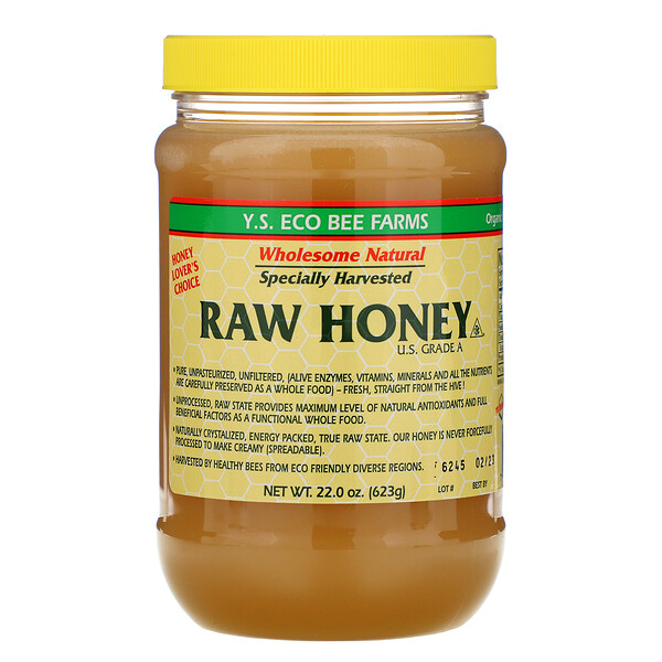 Y.S. Eco Bee Farms, Сырой мед, классаA (США), 623г