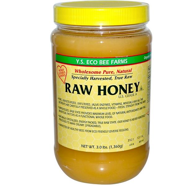 Y.S. Eco Bee Farms, Свежий мед, 3.0 фунта (1360 г)