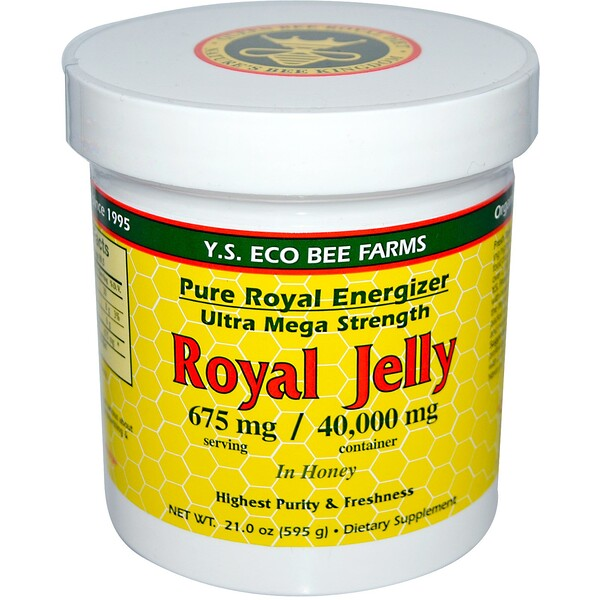 Y.S. Eco Bee Farms, Royal Jelly In Honey, 675 mg, 21.0 oz (595 g)