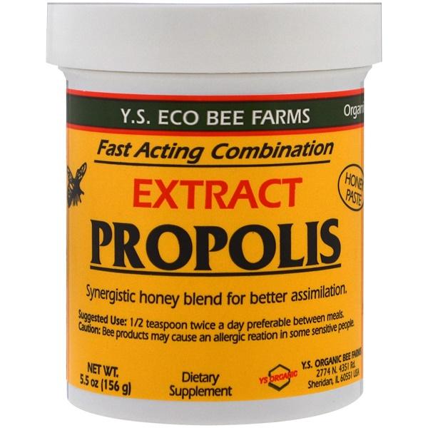 Y.S. Eco Bee Farms, Экстракт прополиса, 5,5 унций (156 г)