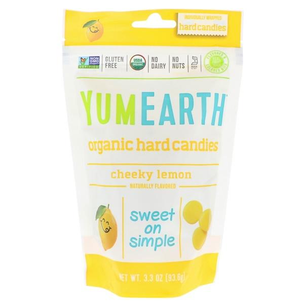 Органические леденцы, дерзкий лимон, 93,6 г (3,3 унции)