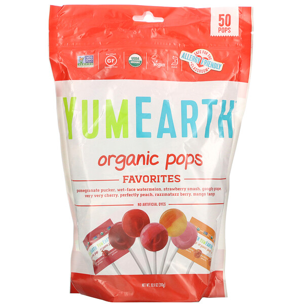 Organic Pops, Favorites, 50 Pops, 10.9 oz (310 g)