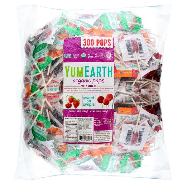 Organic Pops Vitamin C , 300 Pops, 80 oz (2268 g)
