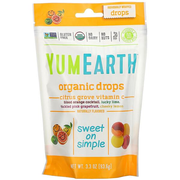 Органические леденцы с витамином С Citrus Grove, 93,5 г (3,3 унции)