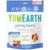 YumEarth, Мишки Гамми, Вкус  в ассортименте, 12 упаковок со снеком, 0,7 унц. (19,8 г) каждая