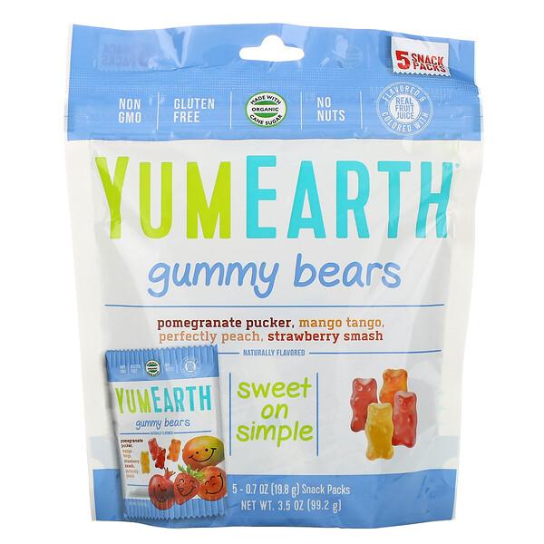 Жевательные мишки, вкусы в ассортименте, 5 упаковок снеков, вес каждой 19,8 г (0,7 унции)