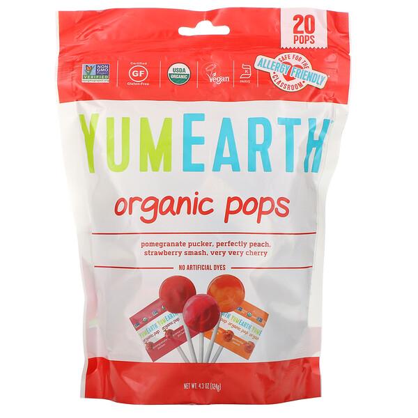 YumEarth, Леденцы органического происхождения, ассорти ароматов, 20 порций, 119,1 г (4,2 унции)