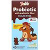 YumV's, Пробиотик с пребиотической клетчаткой, молочный шоколад, без сахара, 40мишек