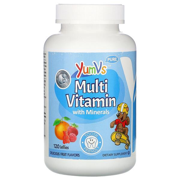 YumV's, мультивитамины с минералами, приятные фруктовые вкусы, 120желейных конфет