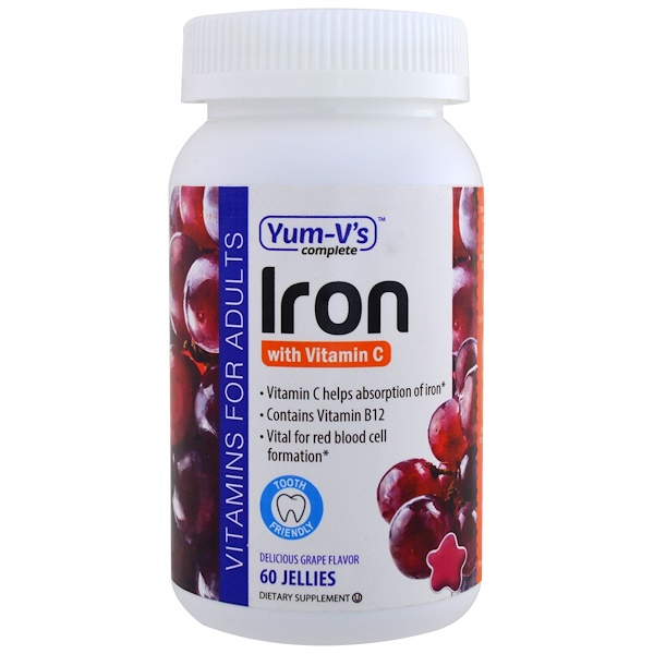Iron with Vitamin C, Grape Flavor, 60 Jellies