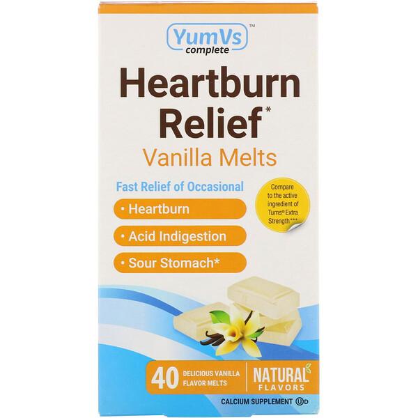 YumV's, Средство от изжоги, таблетки для рассасывания с ванильным вкусом, 40таблеток (Discontinued Item)