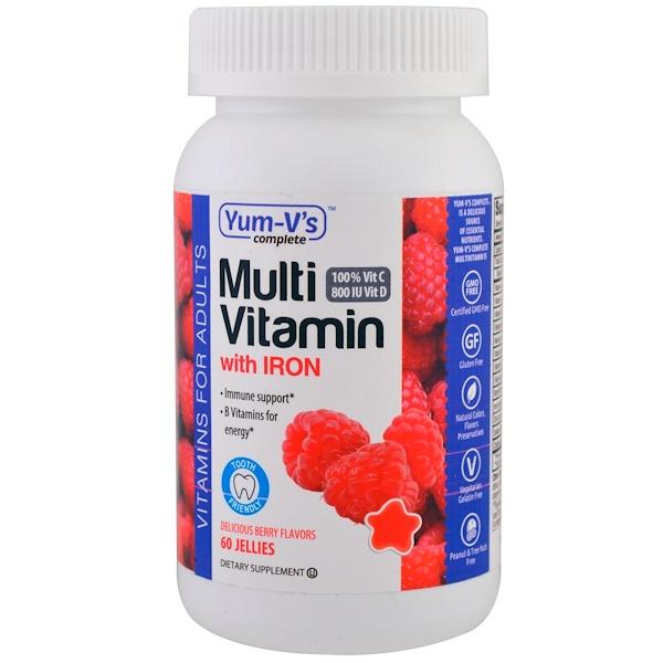 YumV's, Мультивитамины с железом, ягодный вкус, 60 желейных таблеток (Discontinued Item)