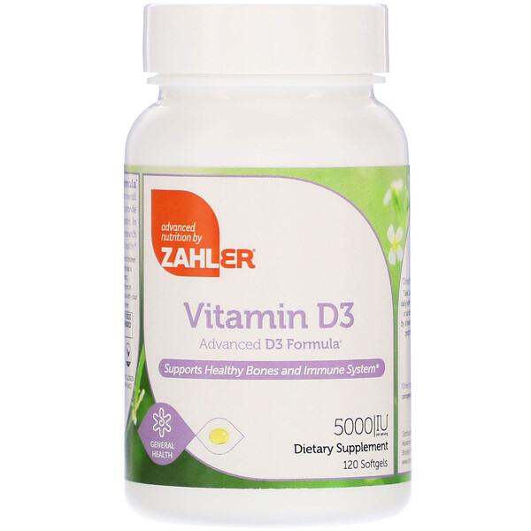 Витамин D-3, улучшенная формула D3, 5000 МЕ, 120 мягких таблеток