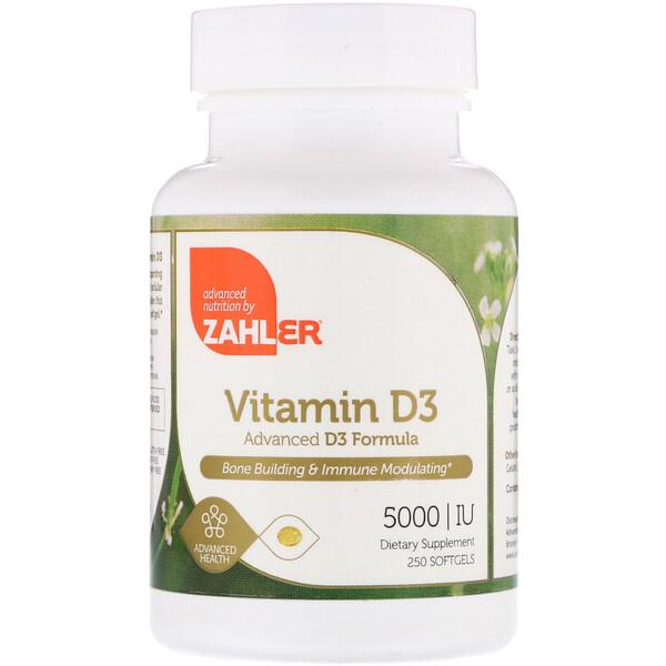 Zahler, Vitamin D3, Advanced D3 Formula, 5,000 IU, 250 Softgels (Discontinued Item)