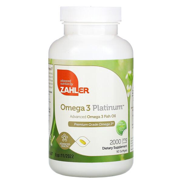 Omega 3 Platinum, Advanced Omega 3 Fish Oil, 2,000 mg, 90 Softgels