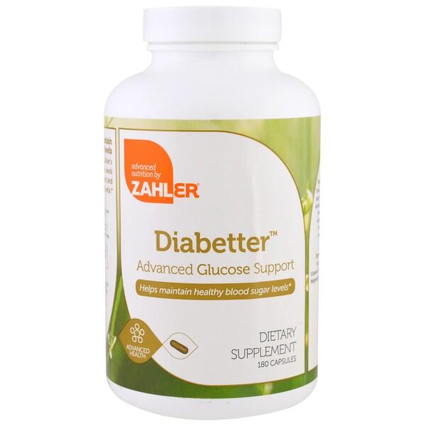 Zahler, Diabetter, расширенная глюкозная поддержка, 180 капсул (Discontinued Item)
