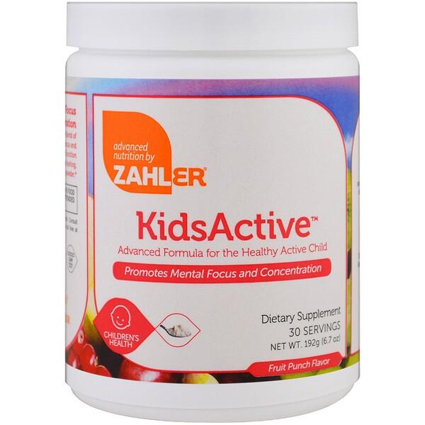 Kids Active, усовершенствованный состав для здоровья активных детей, фруктовый пунш, 6.7 унций (192 г)