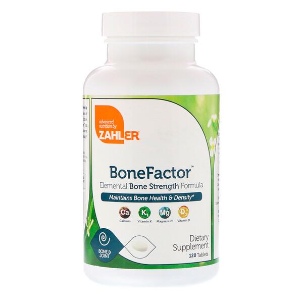 Zahler, BoneFactor, формула природной прочности костей, 120 таблеток (Discontinued Item)