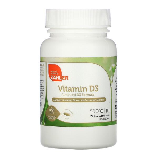 Zahler, Vitamin D3, 50,000 IU, 10 Capsules