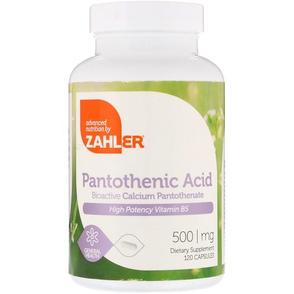 Zahler, Пантотеновая кислота, 500 мг, 120 капсул (Discontinued Item)