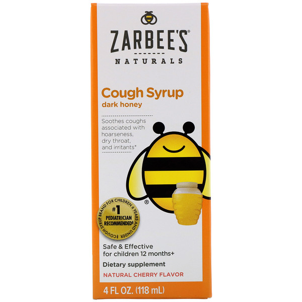 Children's Cough Syrup, Dark Honey, For Children 12 Months+, Natural Cherry Flavor, 4 fl oz (118 ml)