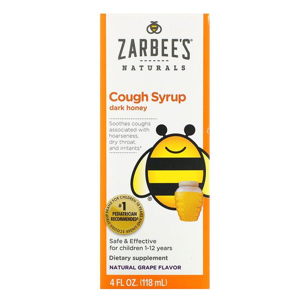 Children's Cough Syrup, Dark Honey, For Children 12 Months+, Natural Grape Flavor, 4 fl oz (118 ml)