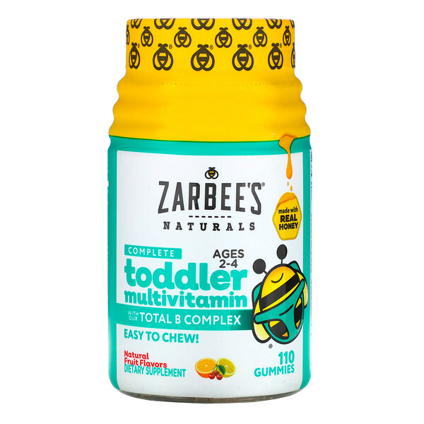 Complete Toddler Multivitamin, Ages 2-4, Natural Fruit Flavors, 110 Gummies