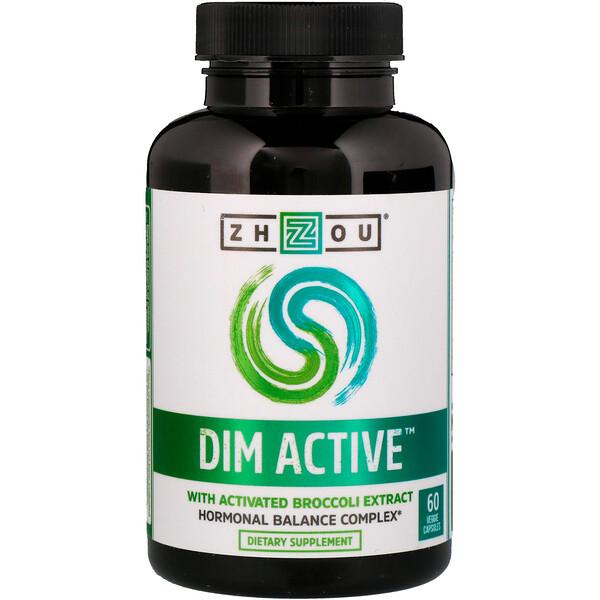 DIM Active, комплекс для гормонального баланса, 60 вегетарианских капсул