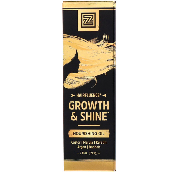Zhou Nutrition, Питательное масло для роста и блеска волос Hairfluence, 2 жидких унции (59,1 г) (Discontinued Item)