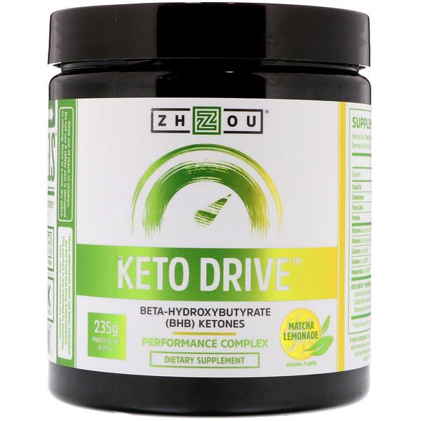 Keto Drive, лимонад с матча, 8,29 унц. (235 г)