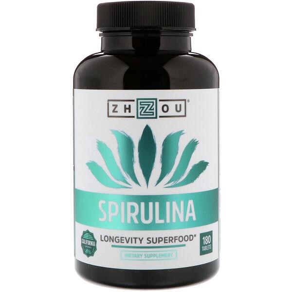 Zhou Nutrition, Спирулина, суперпродукт для долголетия, 180 таблеток (Discontinued Item)