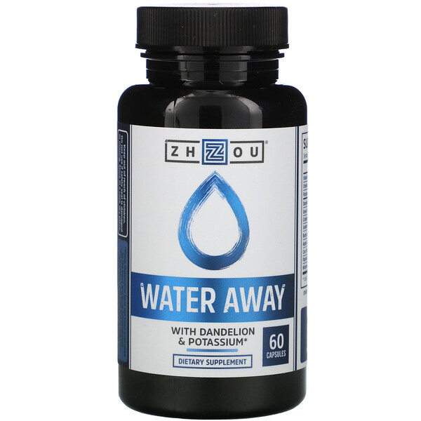 Water Away с одуванчиком и калием, 60 капсул