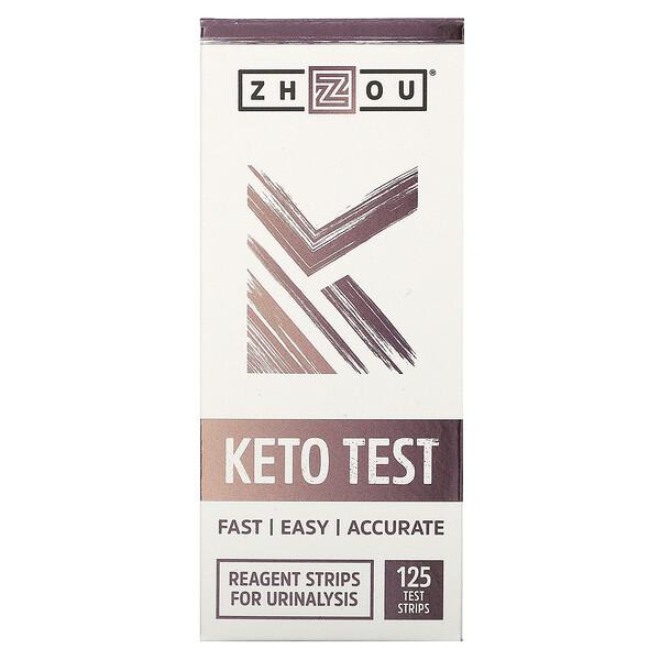 Zhou Nutrition, Kето тест, 125 тест-полосок