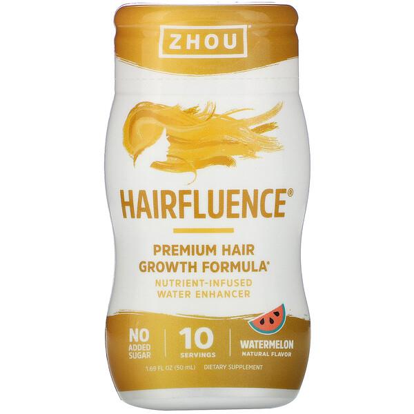 Hairfluence, Nutrient-Infused Water Enhancer, Watermelon, 1.69 fl oz (50 ml)