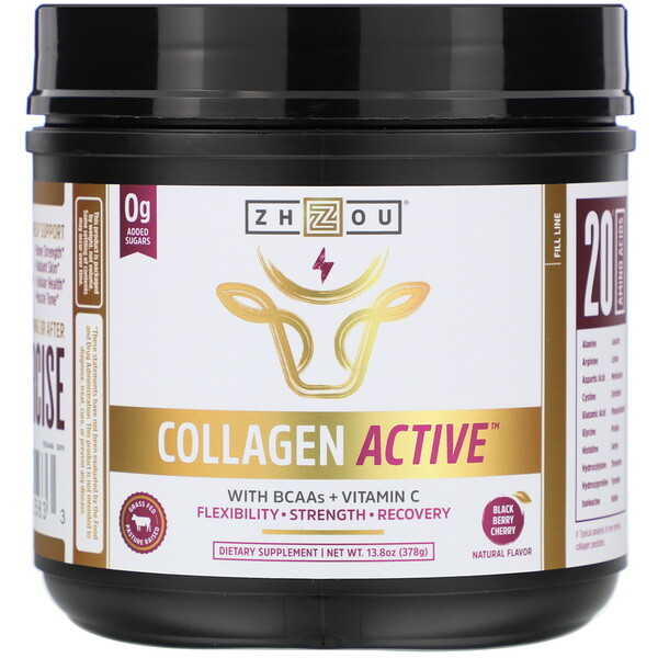 Collagen Active, Black Berry Cherry, 13.8 oz (378 g)