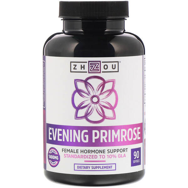 Evening Primrose, Female Hormone Support, 1,400 mg, 90 Softgels