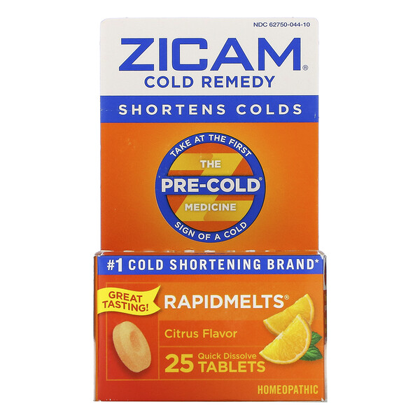 Zicam, Cold Remedy, RapidMelts, Citrus , 25 Quick Dissolve Tablets